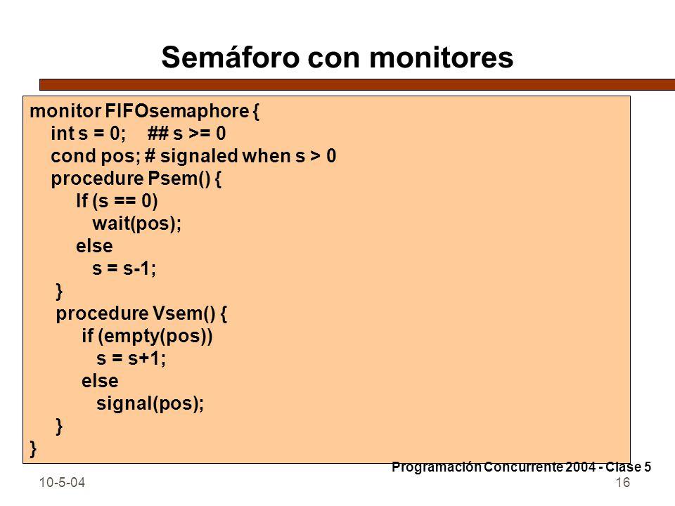Semáforo con monitores