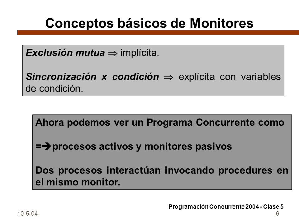 Conceptos básicos de Monitores