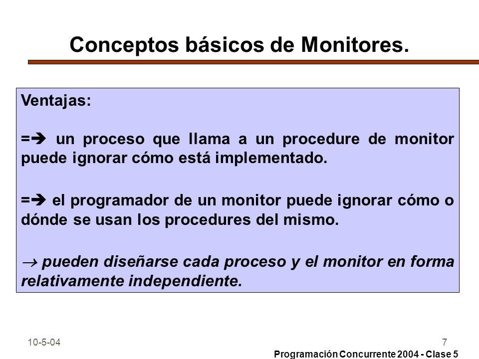 Conceptos básicos de Monitores.