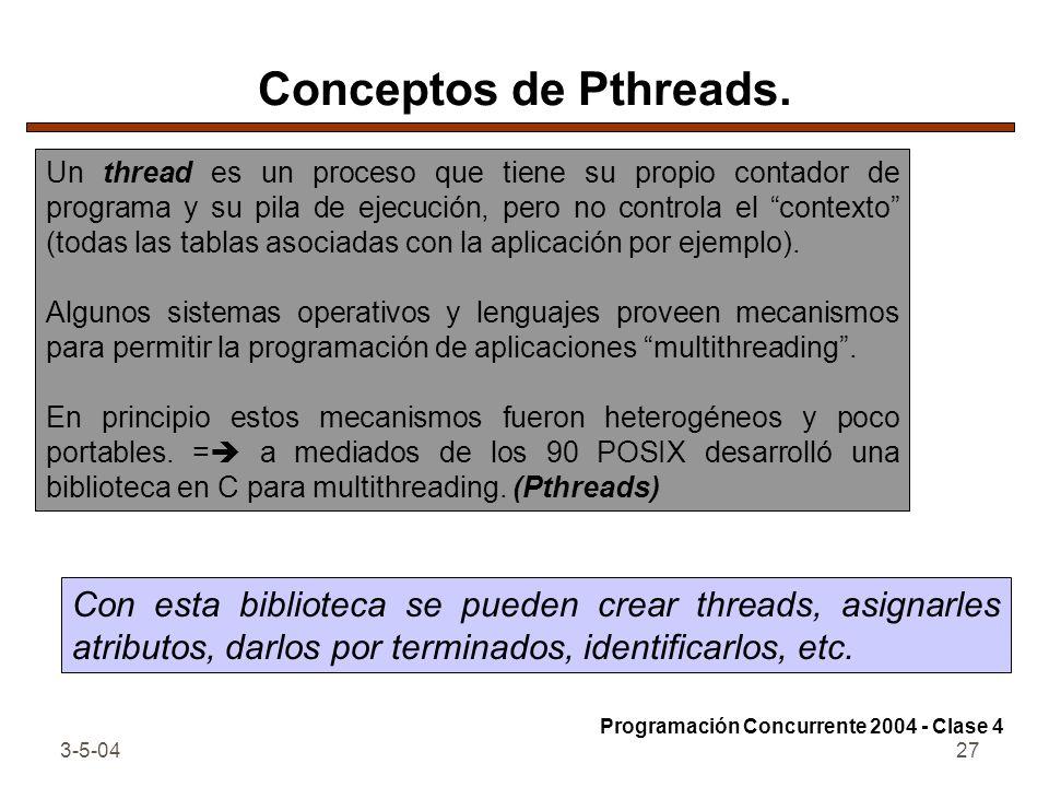 Conceptos de Pthreads.