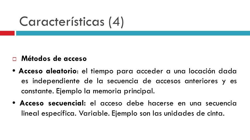 Características (4) Métodos de acceso