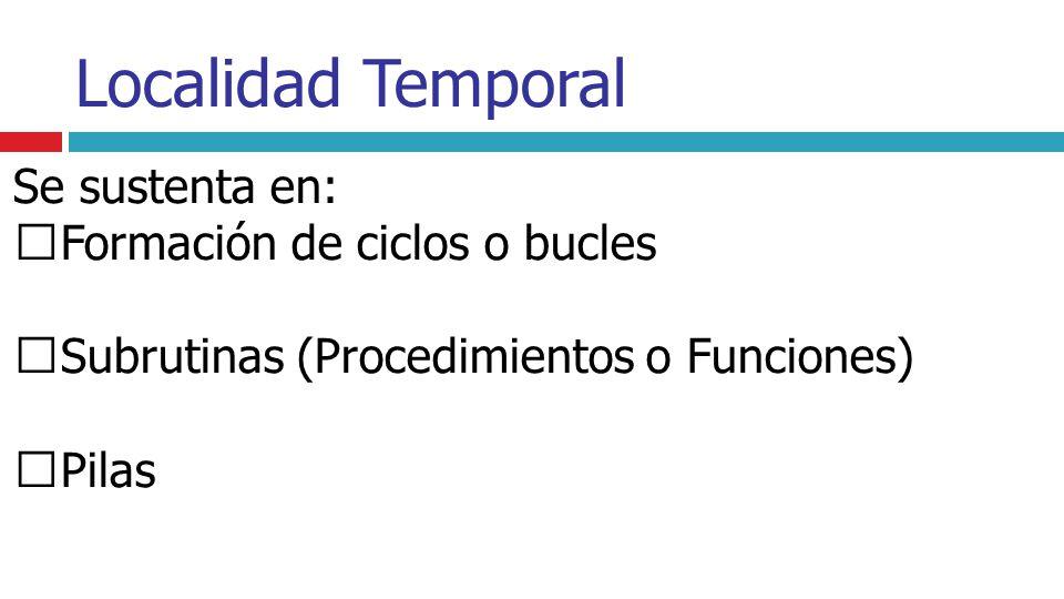 Formación de ciclos o bucles Subrutinas (Procedimientos o Funciones)