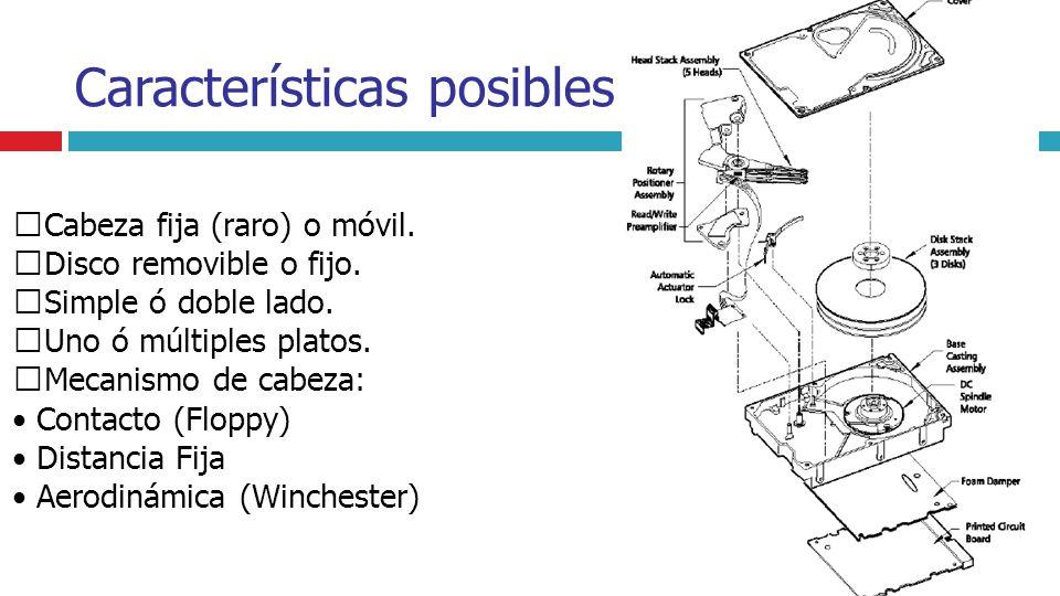 Características posibles