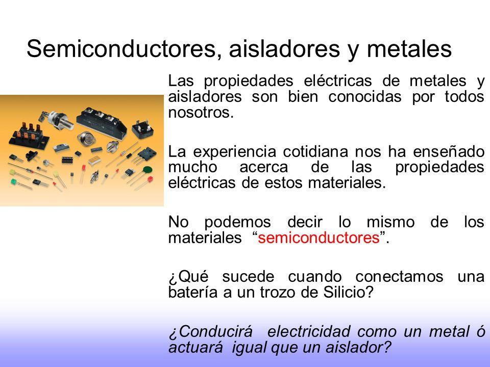 Semiconductores, aisladores y metales