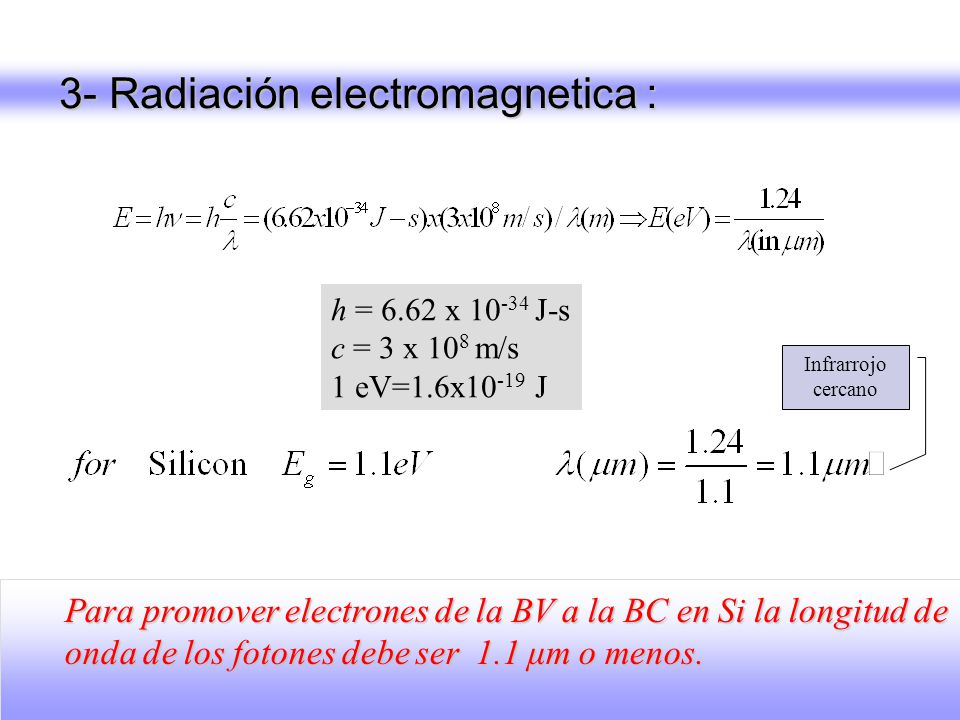 3- Radiación electromagnetica :
