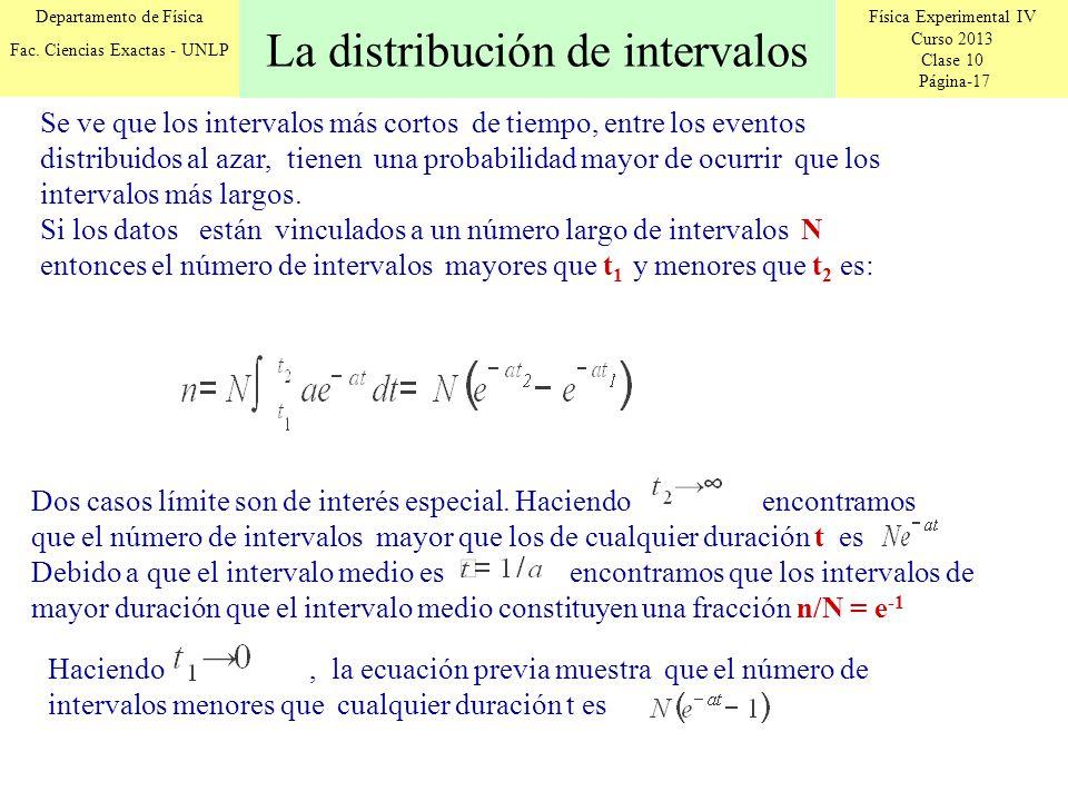 La distribución de intervalos