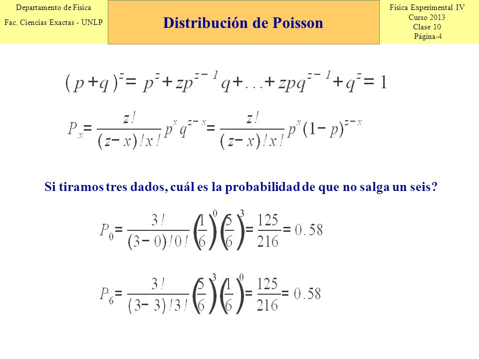 Distribución de Poisson
