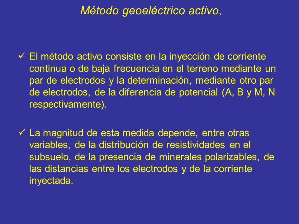 Método geoeléctrico activo,