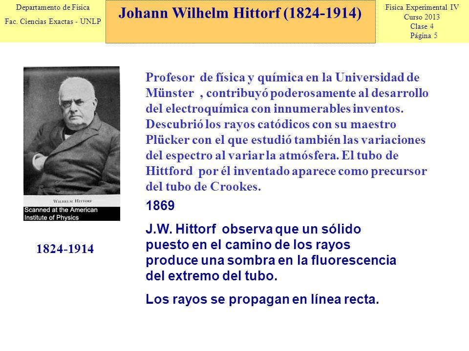 Johann Wilhelm Hittorf (1824-1914)