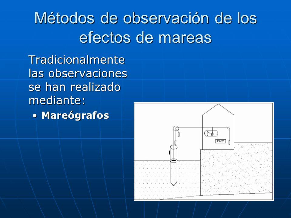 Métodos de observación de los efectos de mareas