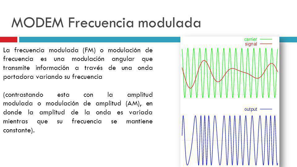 MODEM Frecuencia modulada