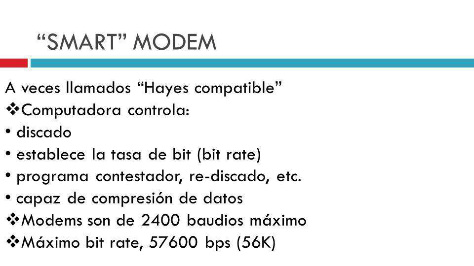 SMART MODEM A veces llamados Hayes compatible