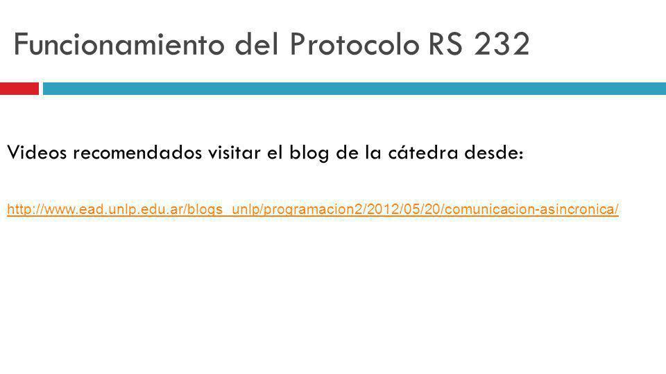 Funcionamiento del Protocolo RS 232
