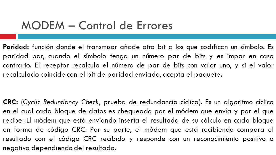 MODEM – Control de Errores