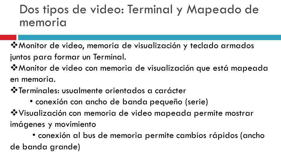 Dos tipos de video: Terminal y Mapeado de memoria