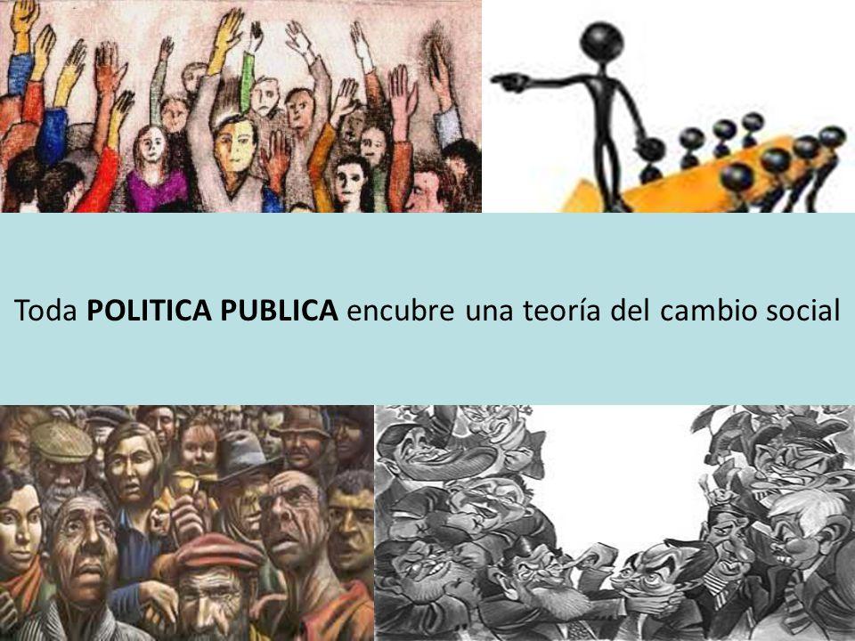 Toda POLITICA PUBLICA encubre una teoría del cambio social
