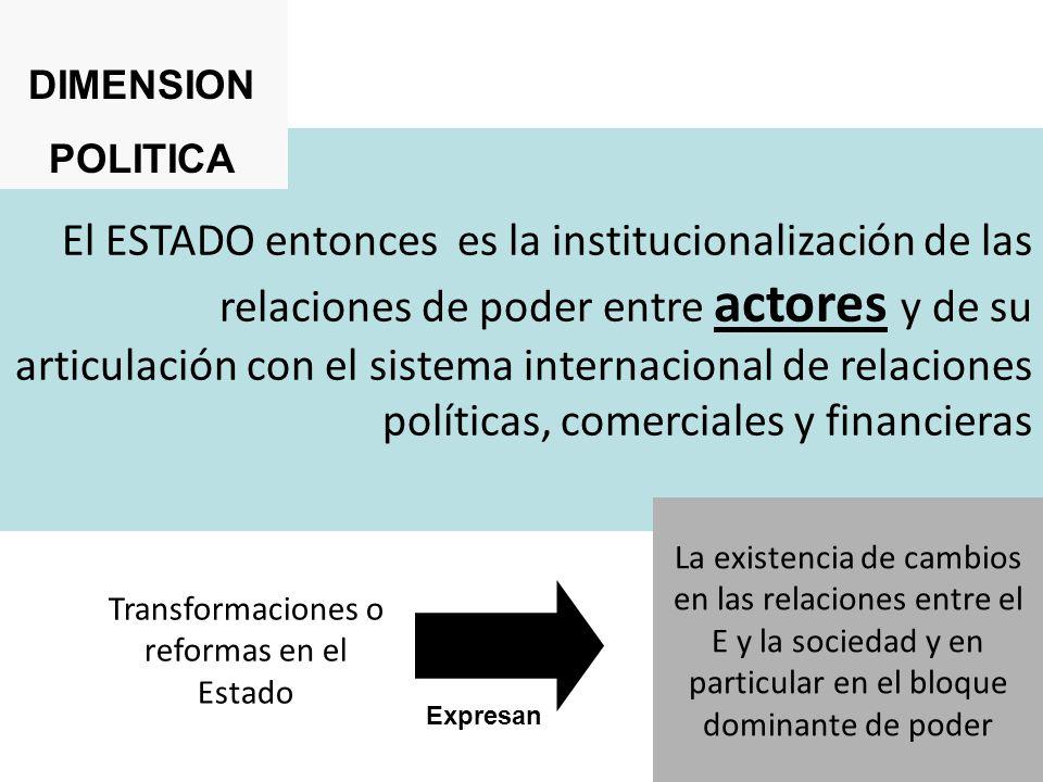 Transformaciones o reformas en el Estado