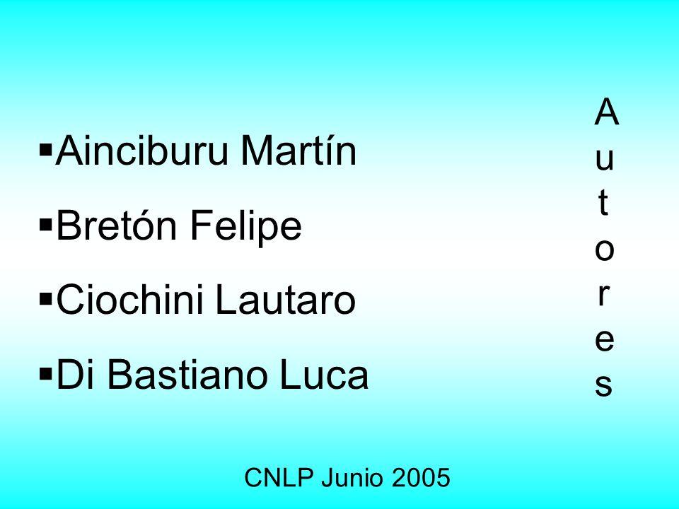 Ainciburu Martín Bretón Felipe Ciochini Lautaro Di Bastiano Luca