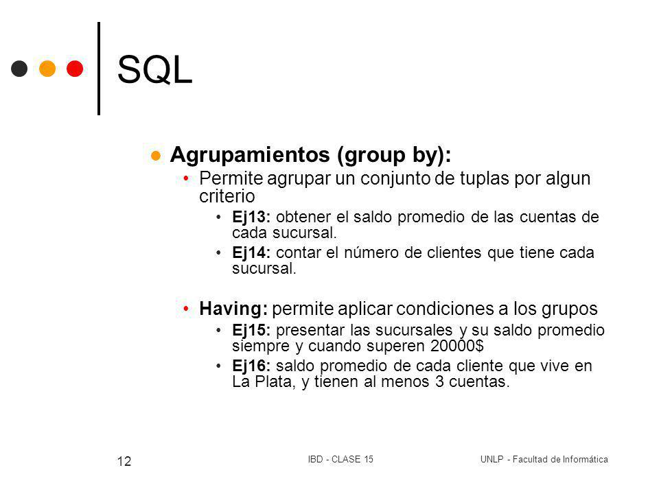 SQL Agrupamientos (group by):