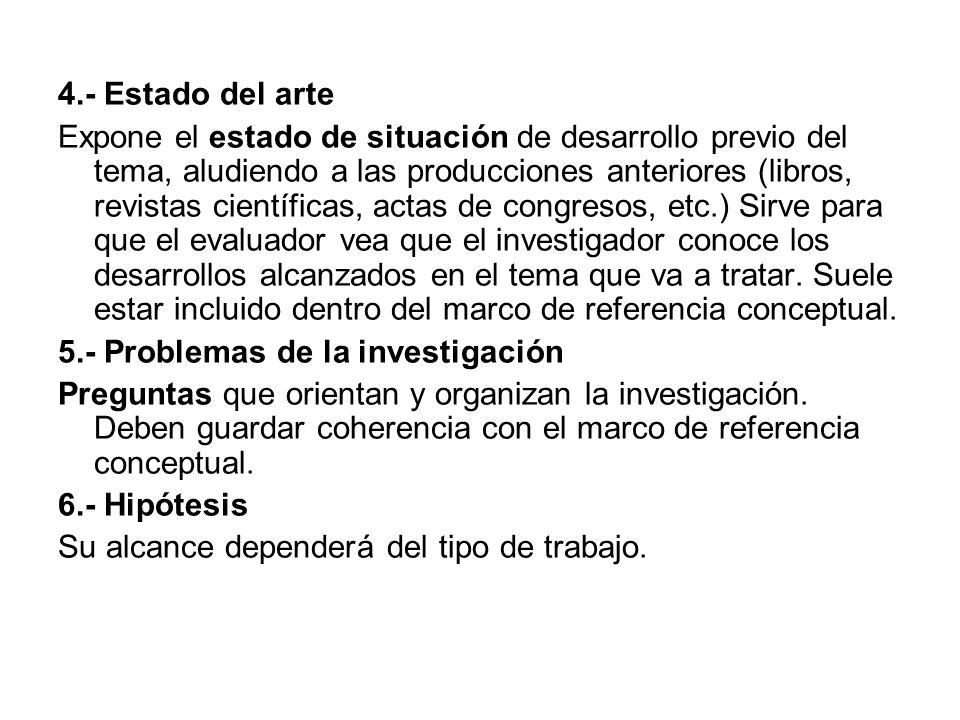 4.- Estado del arte