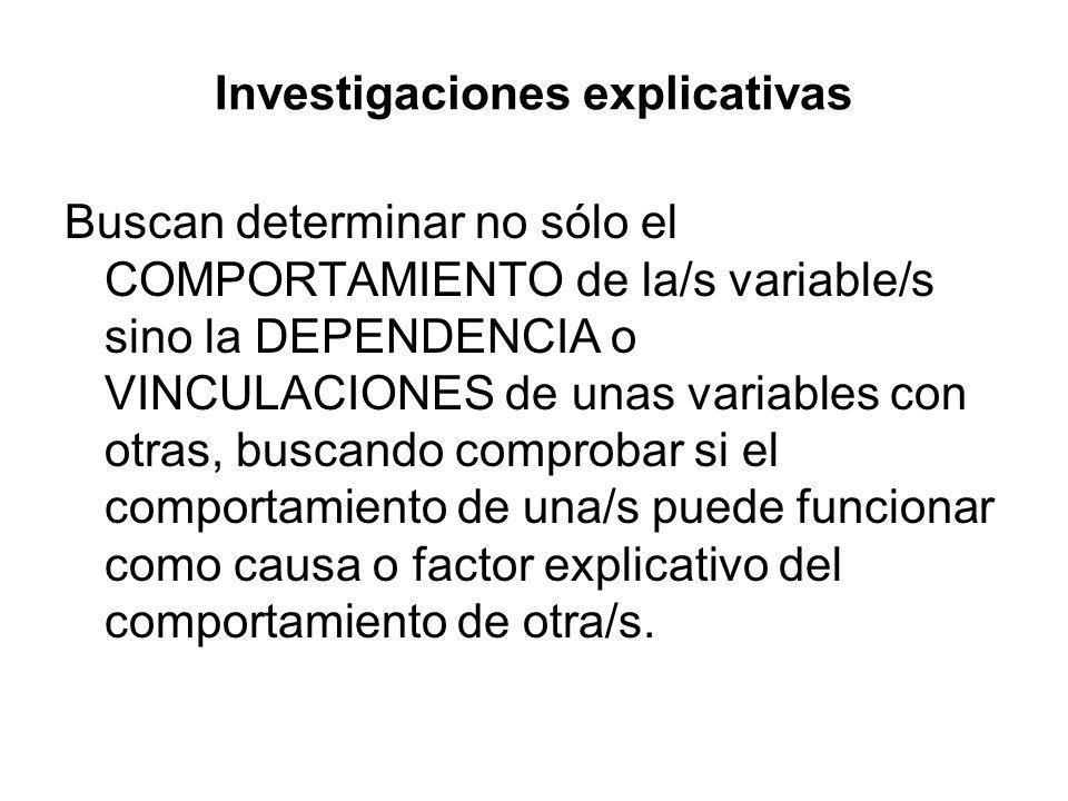 Investigaciones explicativas