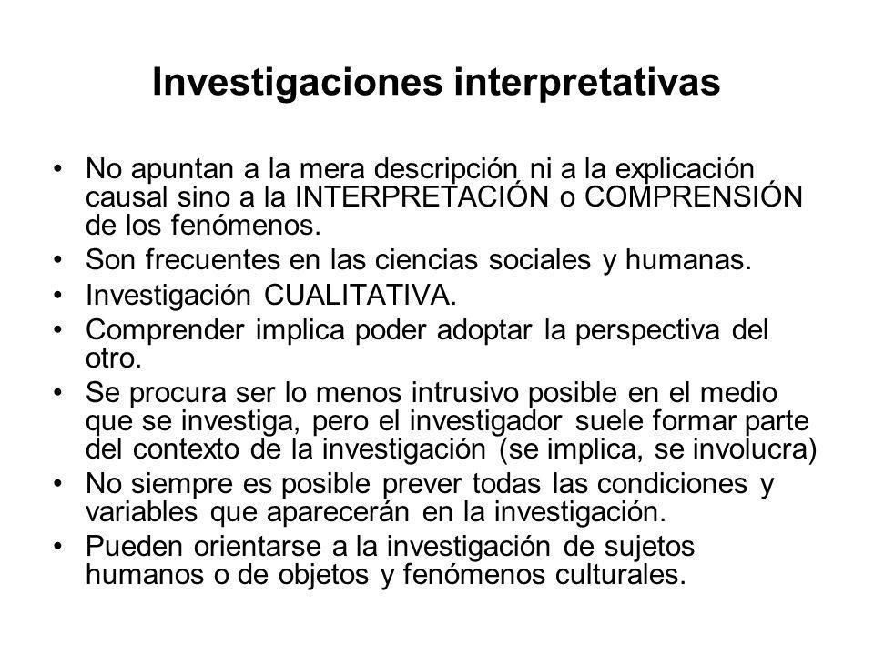 Investigaciones interpretativas