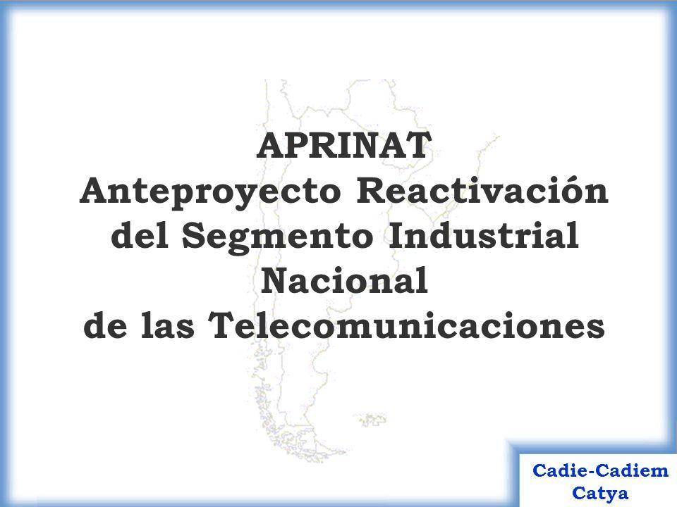 APRINAT Anteproyecto Reactivación del Segmento Industrial Nacional de las Telecomunicaciones