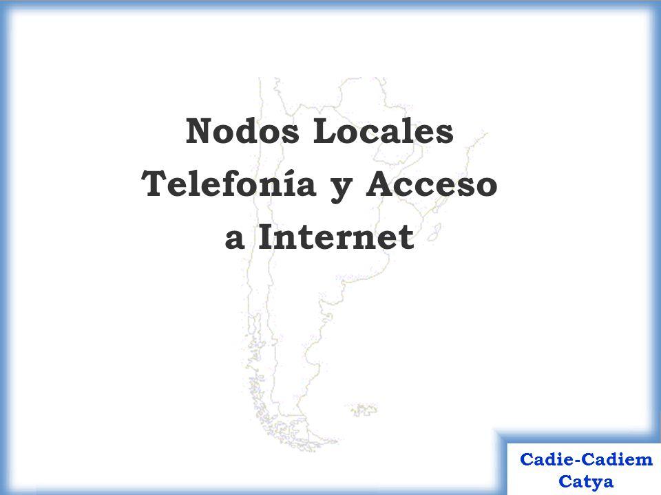 Nodos Locales Telefonía y Acceso a Internet