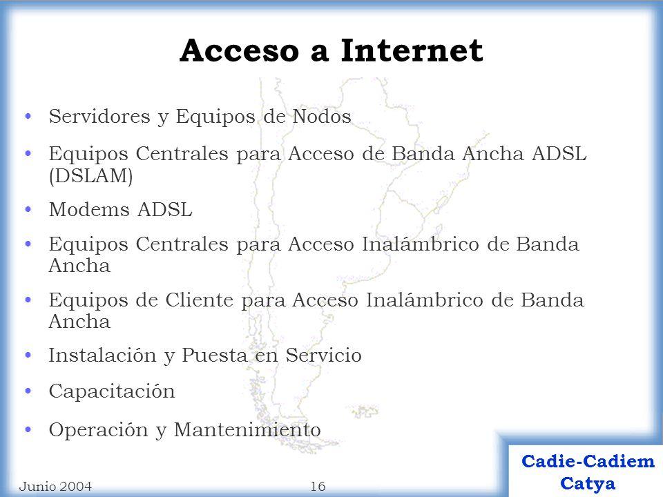 Acceso a Internet Servidores y Equipos de Nodos