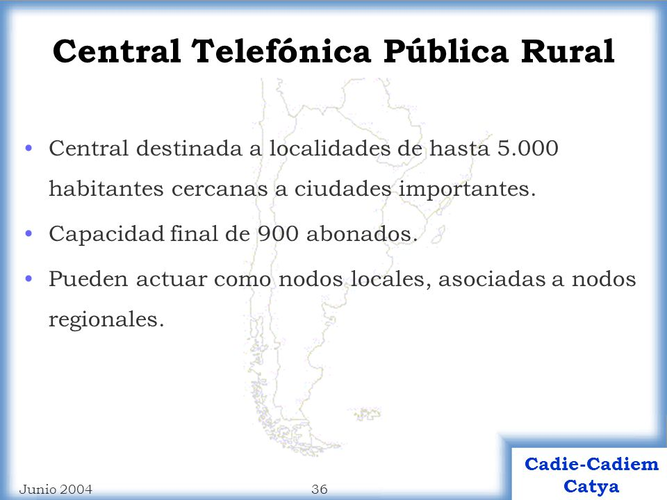 Central Telefónica Pública Rural