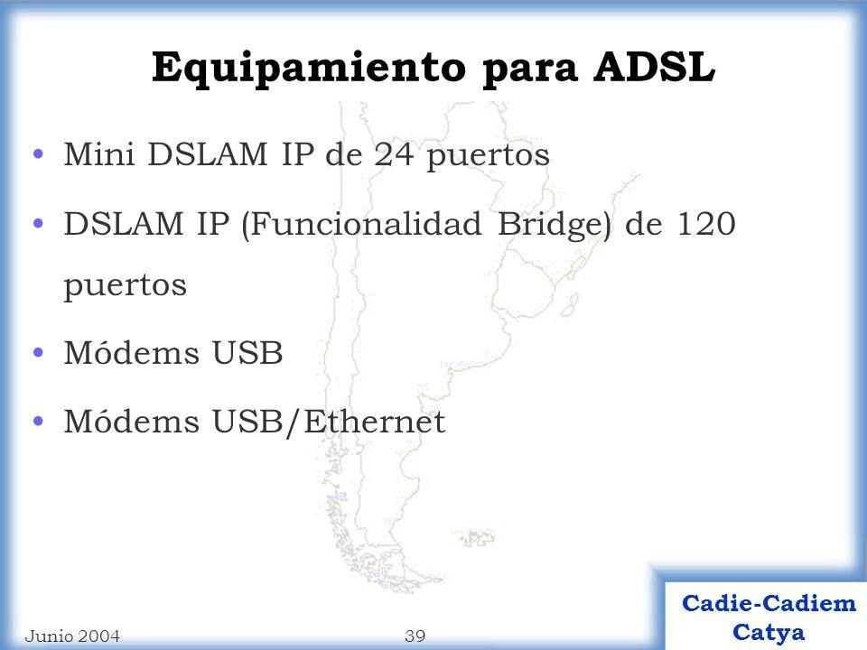 Equipamiento para ADSL