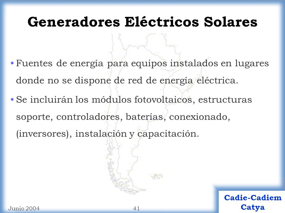 Generadores Eléctricos Solares