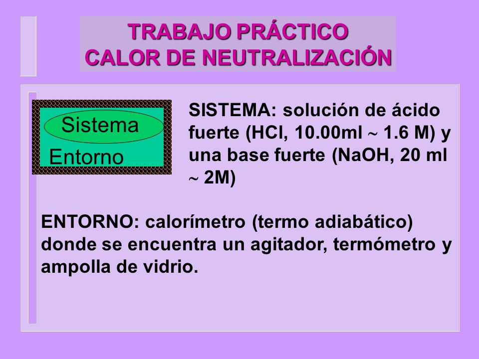 TRABAJO PRÁCTICO CALOR DE NEUTRALIZACIÓN