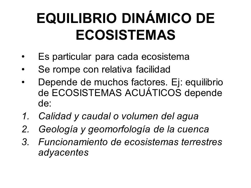 EQUILIBRIO DINÁMICO DE ECOSISTEMAS