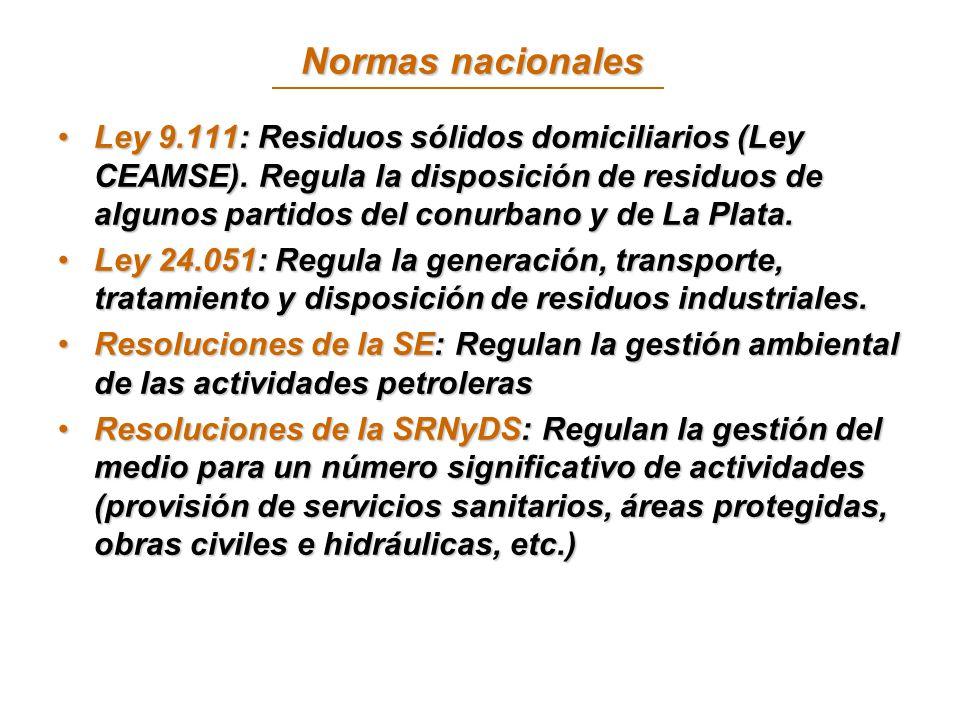 Normas nacionales