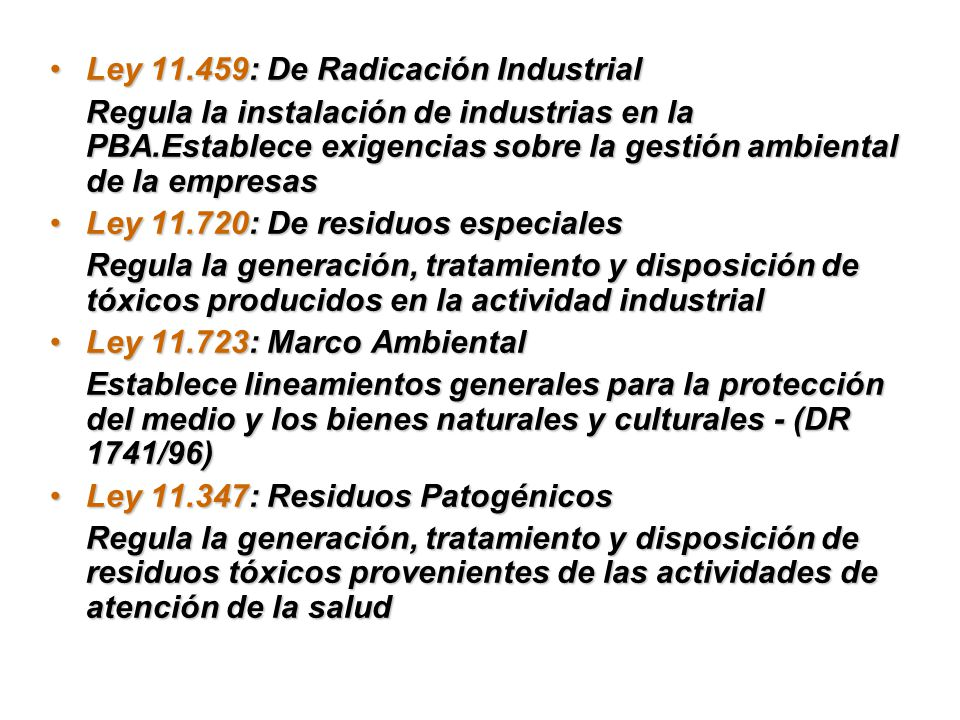 Ley 11.459: De Radicación Industrial
