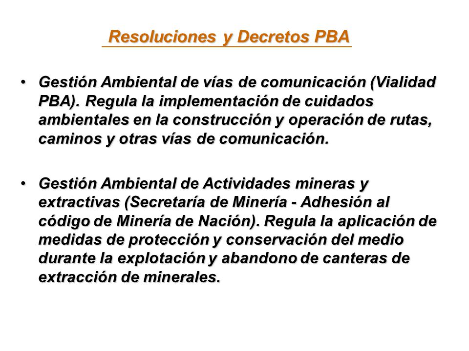Resoluciones y Decretos PBA