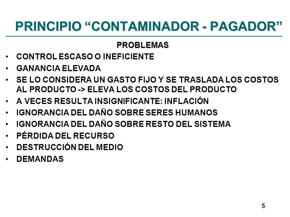PRINCIPIO CONTAMINADOR - PAGADOR