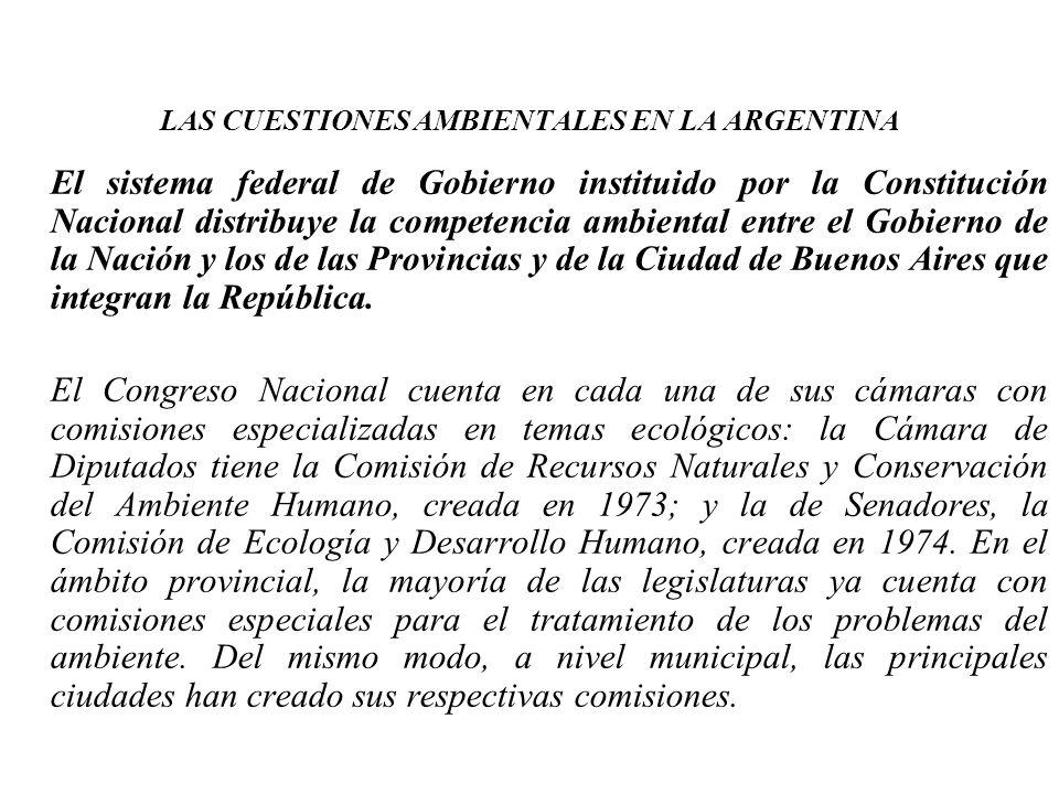 LAS CUESTIONES AMBIENTALES EN LA ARGENTINA