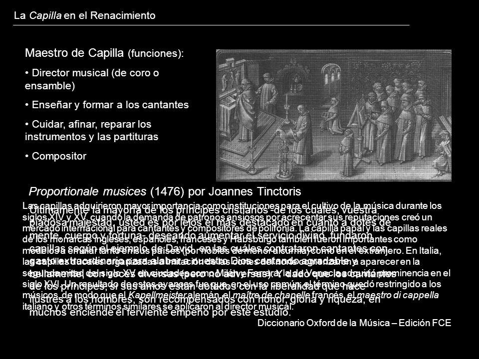 Maestro de Capilla (funciones):