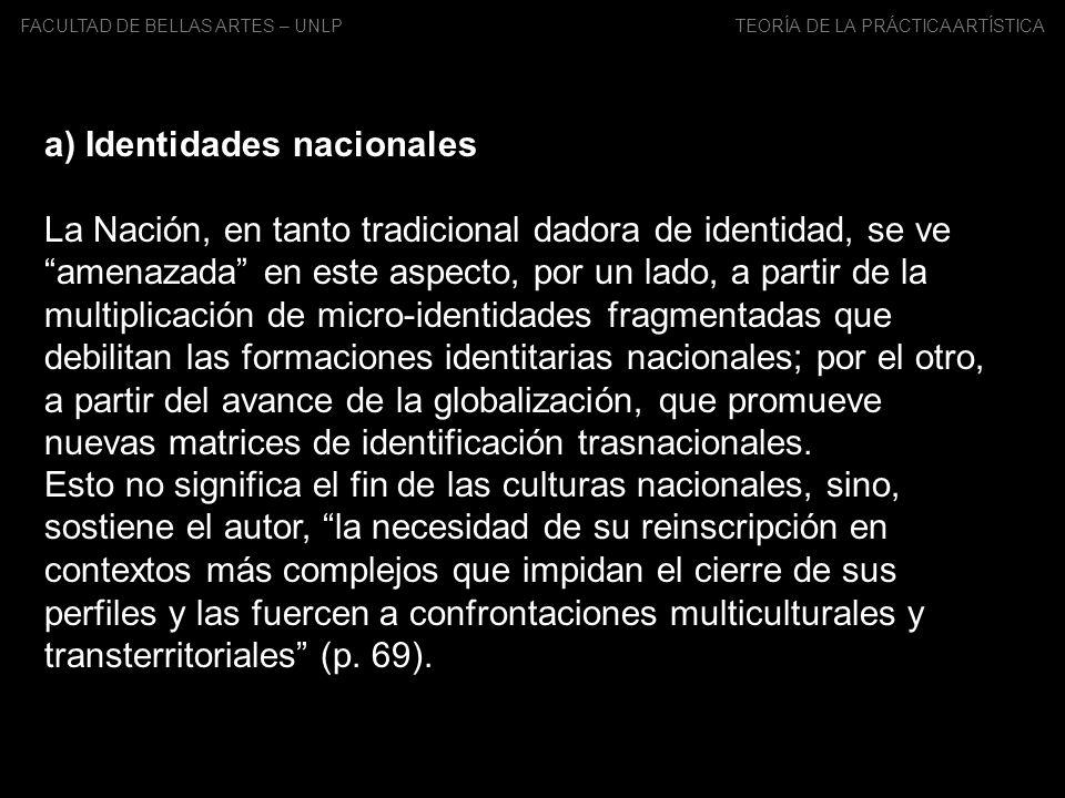 a) Identidades nacionales