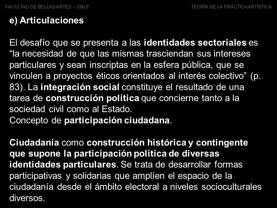 Concepto de participación ciudadana.