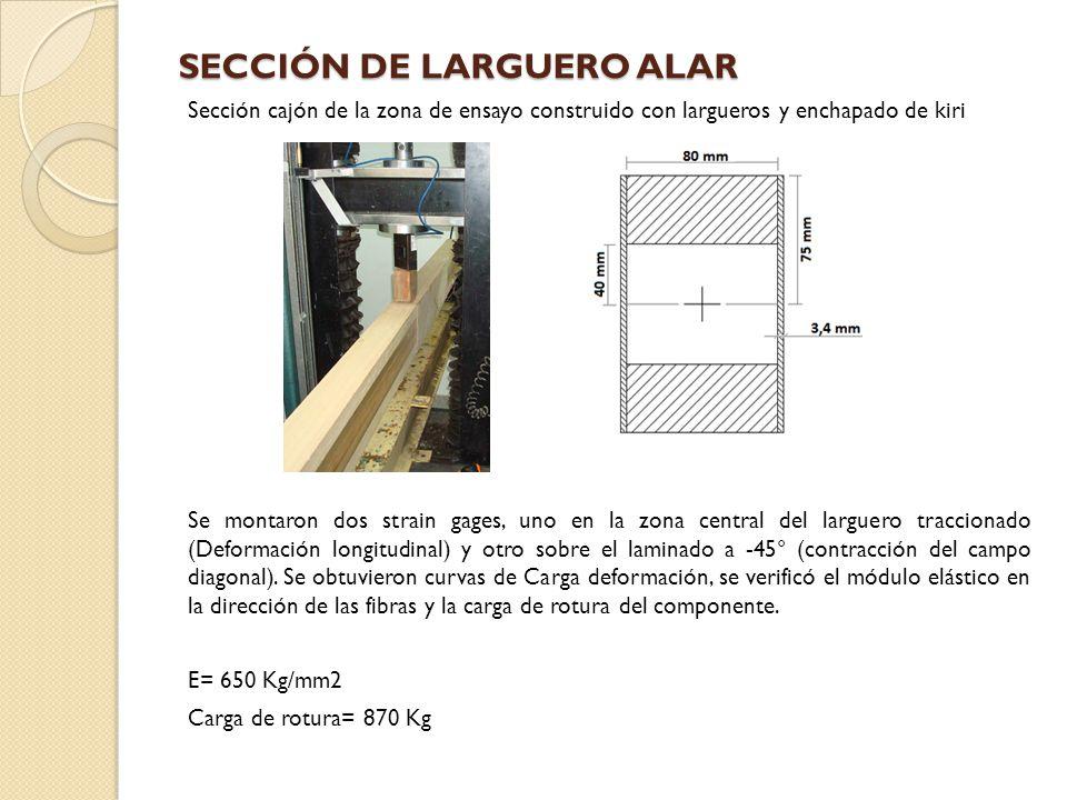 SECCIÓN DE LARGUERO ALAR