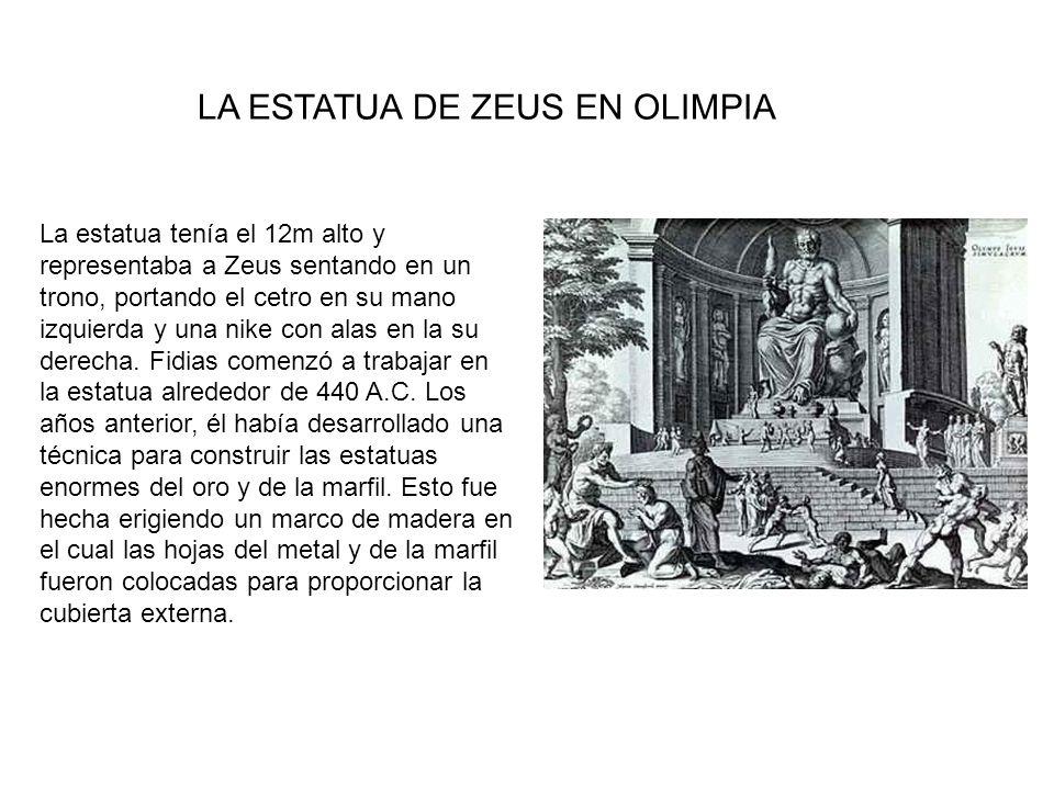 LA ESTATUA DE ZEUS EN OLIMPIA
