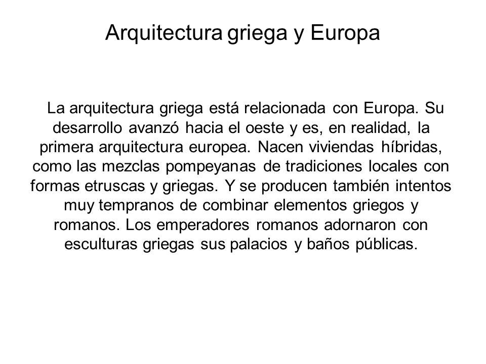 Arquitectura griega y Europa