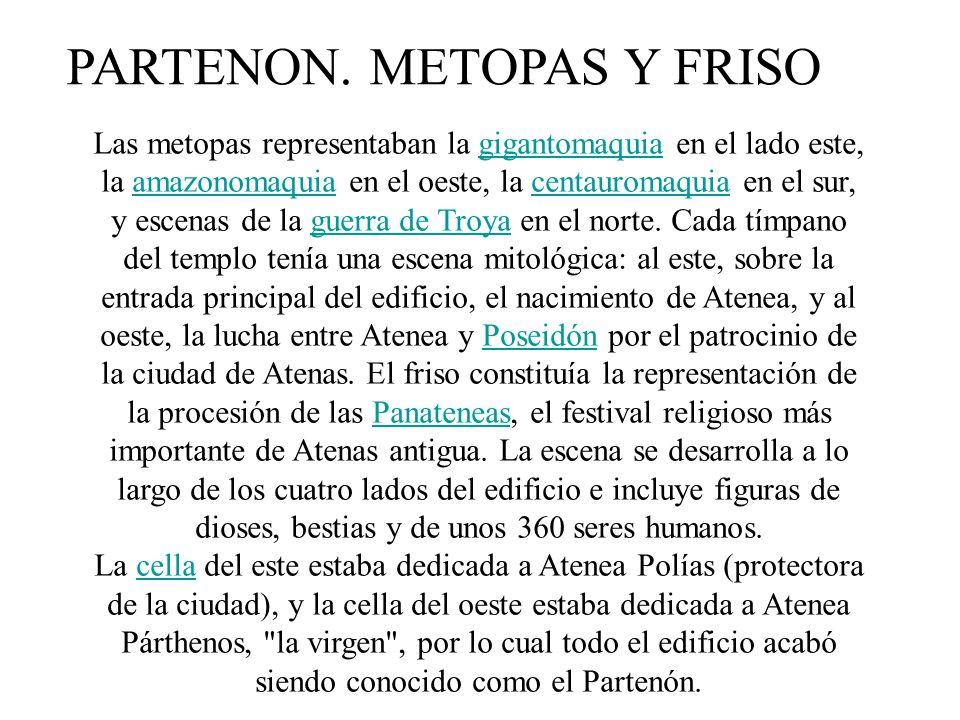 PARTENON. METOPAS Y FRISO