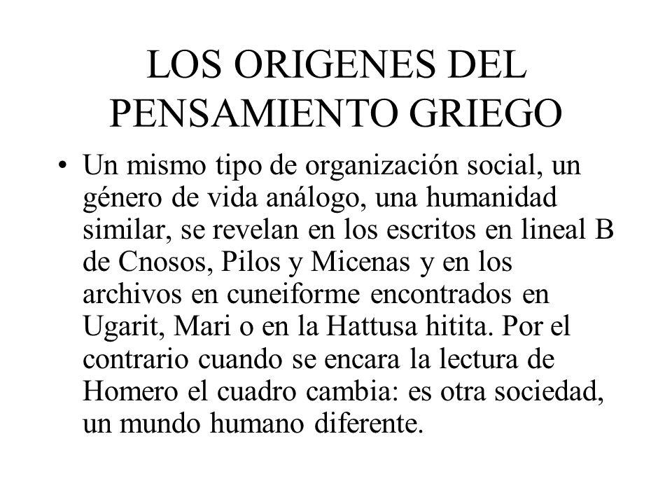 LOS ORIGENES DEL PENSAMIENTO GRIEGO