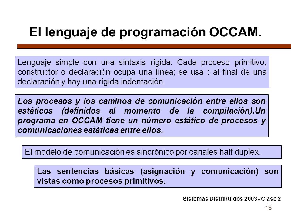 El lenguaje de programación OCCAM.