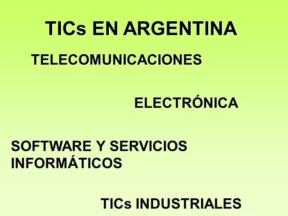 TICs EN ARGENTINA TELECOMUNICACIONES ELECTRÓNICA