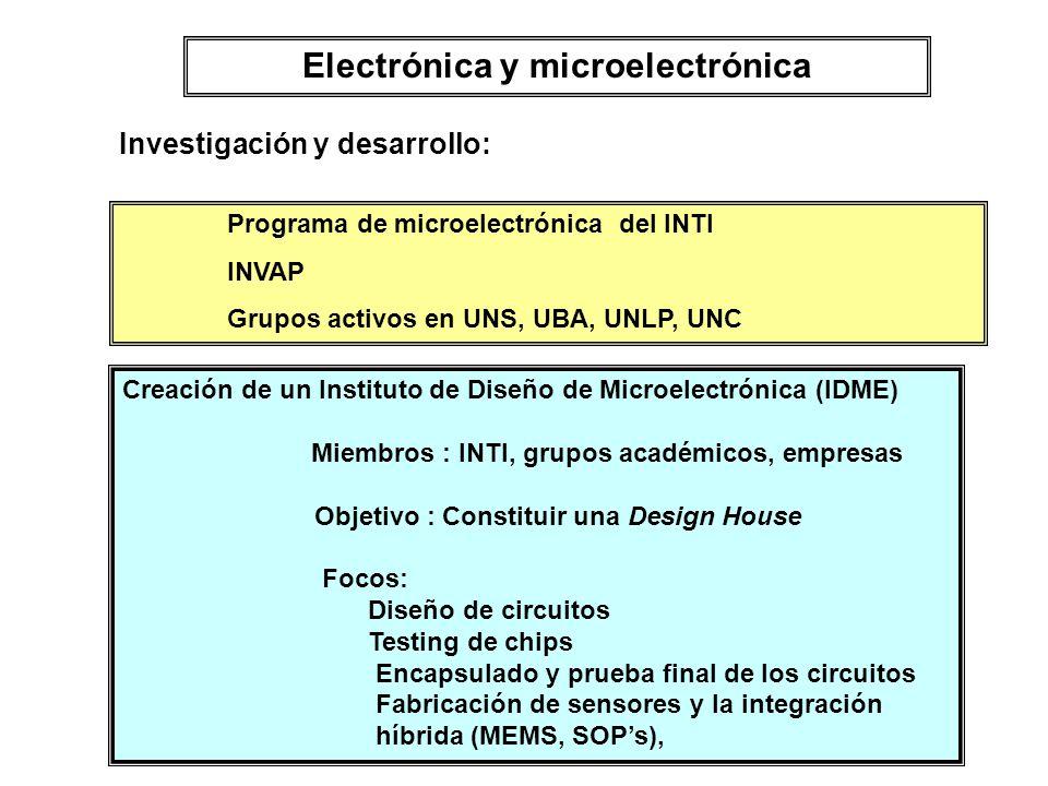 Electrónica y microelectrónica